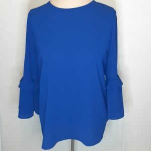 JULES & LEOPOLD COLBALT BLUE BELLE SLEEVE TOP